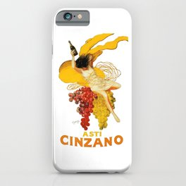 Vintage Asti Cinzano Poster by Leonetto Cappiello Beverage Champagne Drink Artwork for Prints Poster iPhone Case