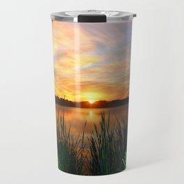 Sunrise At the Lake Travel Mug