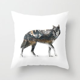 The Wolf In The Snow Throw Pillow