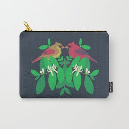 Northern Cardinals + Honeysuckle Carry-All Pouch
