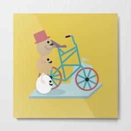 Egg(s) on Bike Metal Print