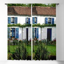Maison bleue Blackout Curtain