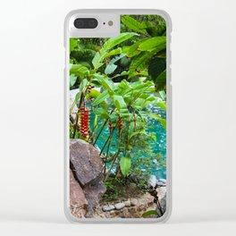 Dreamy Garden Views Clear iPhone Case