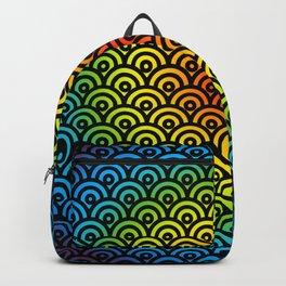 Undercutting Circles LBGT Black Backpack