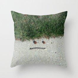 Mother Nature Smirk Throw Pillow