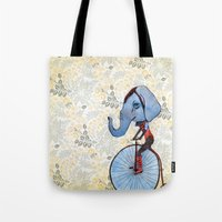 ellie goulding Tote Bags featuring Ellie  by Dana Bean