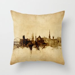 Newcastle England Skyline Throw Pillow