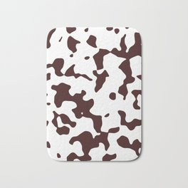 Large Spots - White and Dark Sienna Brown Bath Mat