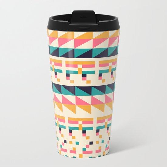 Pattern # 1 Metal Travel Mug