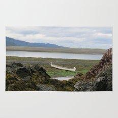 Abandoned :: A Lone Canoe Rug