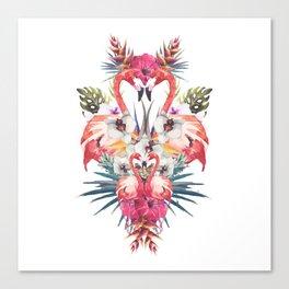 Flamingos Tropicales Canvas Print