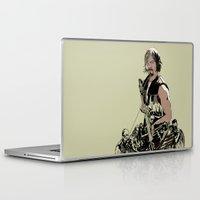 daryl dixon Laptop & iPad Skins featuring Daryl Dixon by Huebucket