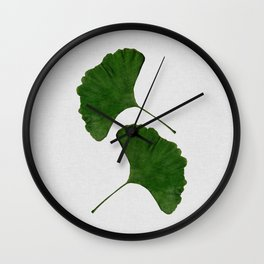 Ginkgo Leaf II Wall Clock