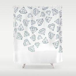 Diamond Shower Shower Curtain