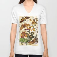 insect V-neck T-shirts featuring Insect Life by Thomas Terceira