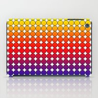 polka dot iPad Cases featuring Rainbow Dot Candy Polka dot by ForgottenCotton