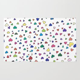 Little Hearts - Multi-Colored Rug