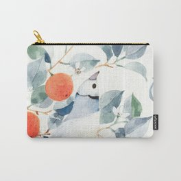 Gouldian Finch and Orange Tree Carry-All Pouch
