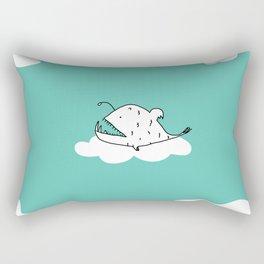 Flying Angler Fish by Amanda Jones Rectangular Pillow