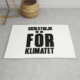 SKOLSTREJK FOR KLIMATET Rug