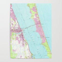 Vintage Map of Melbourne Florida (1949) Poster