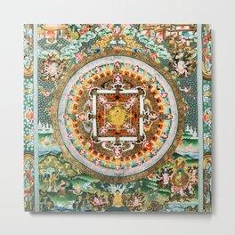 Buddhist Mandala White Tara Metal Print