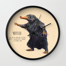 Niffler art Fantastic Beasts Wall Clock