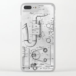 Toy Saxophone Clear iPhone Case