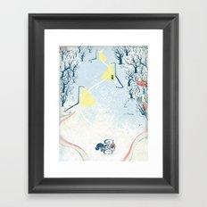 Winter Cycling Framed Art Print