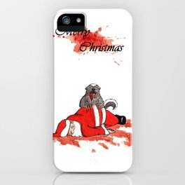 Honey Badger Christmas  iPhone Case
