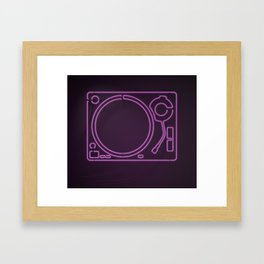 Neon Turntable 1 - 3D Art Framed Art Print