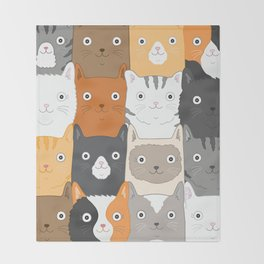 Herded Cats Throw Blanket