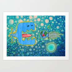 Sailing Without Destination  Art Print
