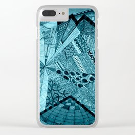Blue Energy Clear iPhone Case