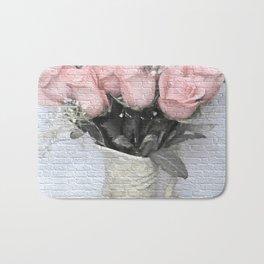 Love Silently - Flower Art Bath Mat