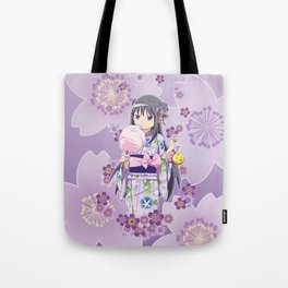Homura Akemi (Yukata & Cherri Blossom edit) Tote Bag