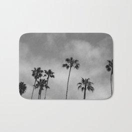 Black and White Palm Tree Bath Mat