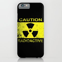 Caution Radioactive Sign iPhone Case
