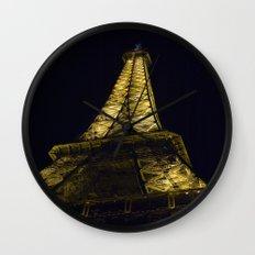 Eiffel Tower @ Night Wall Clock