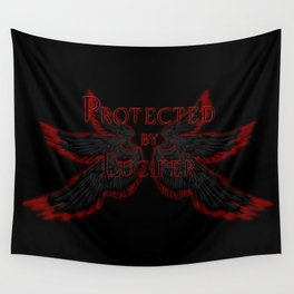 Protected by Lucifer Dark Wall Tapestry