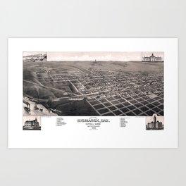 Bismarck - North Dakota - 1883 Art Print
