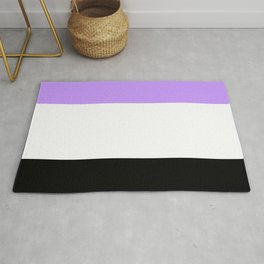 Just three colors 6 purple,white,black Rug