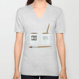 Paint Water And Coffee Unisex V-Neck