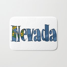 Nevada Font with Nevadan Flag Bath Mat