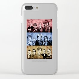 Doctor Who - Three Colours Who Clear iPhone Case