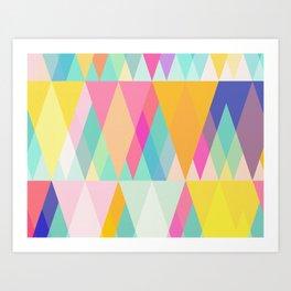 Happy Geometry Art Print