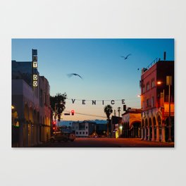 Venice Beach California Sunrise Canvas Print
