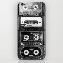 Something Nostalgic - black and white #decor #buyart #society6 iPhone Skin