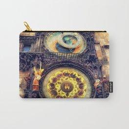 Prague Clock Orloj watercolor Carry-All Pouch