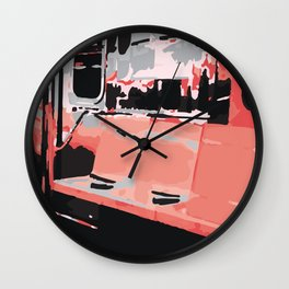 Subway Pop Art Wall Clock